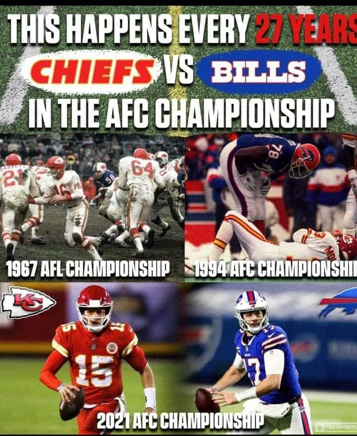 History repeats it's self #AFCChampionship hey @Chiefs #BringitHome AGAIN have a great rest of the week #ChiefsKingdom #RunItBack