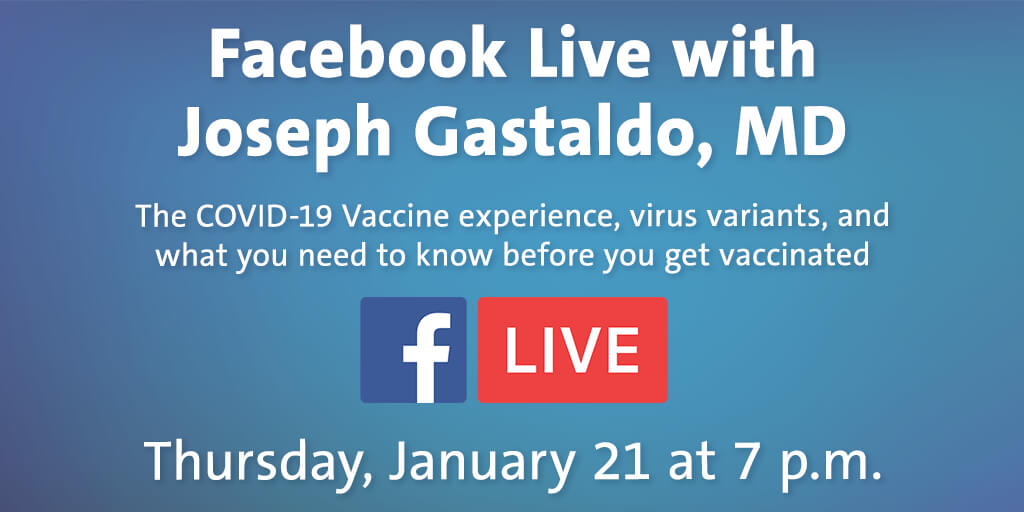 Do you have questions about the #COVID19vaccine or the new virus variants? Join us on Facebook tomorrow for a live Q&A with OhioHealth system medical director of infectious diseases, Joseph Gastaldo, MD, & get your questions answered. RSVP to the event ➡️ https://t.co/outiUx1Qnw https://t.co/tbpBOal7Ug