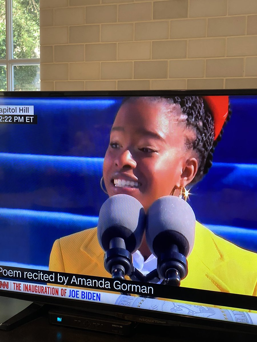 Amanda Gorman, Maya Angelou would be very proud of you. Thank you for your beautiful words and grace.           #AmandaGorman #InaugurationDay #Inauguration2021 #speech #poetry #grace