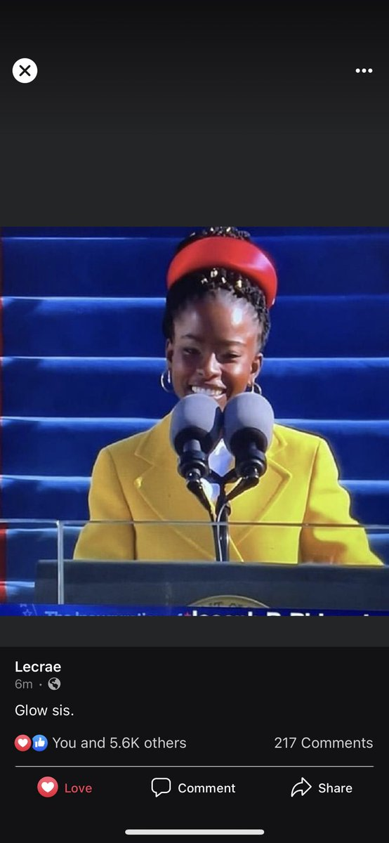 #Amandagorman bringing #BlackGirlMagic to #InaugurationDay