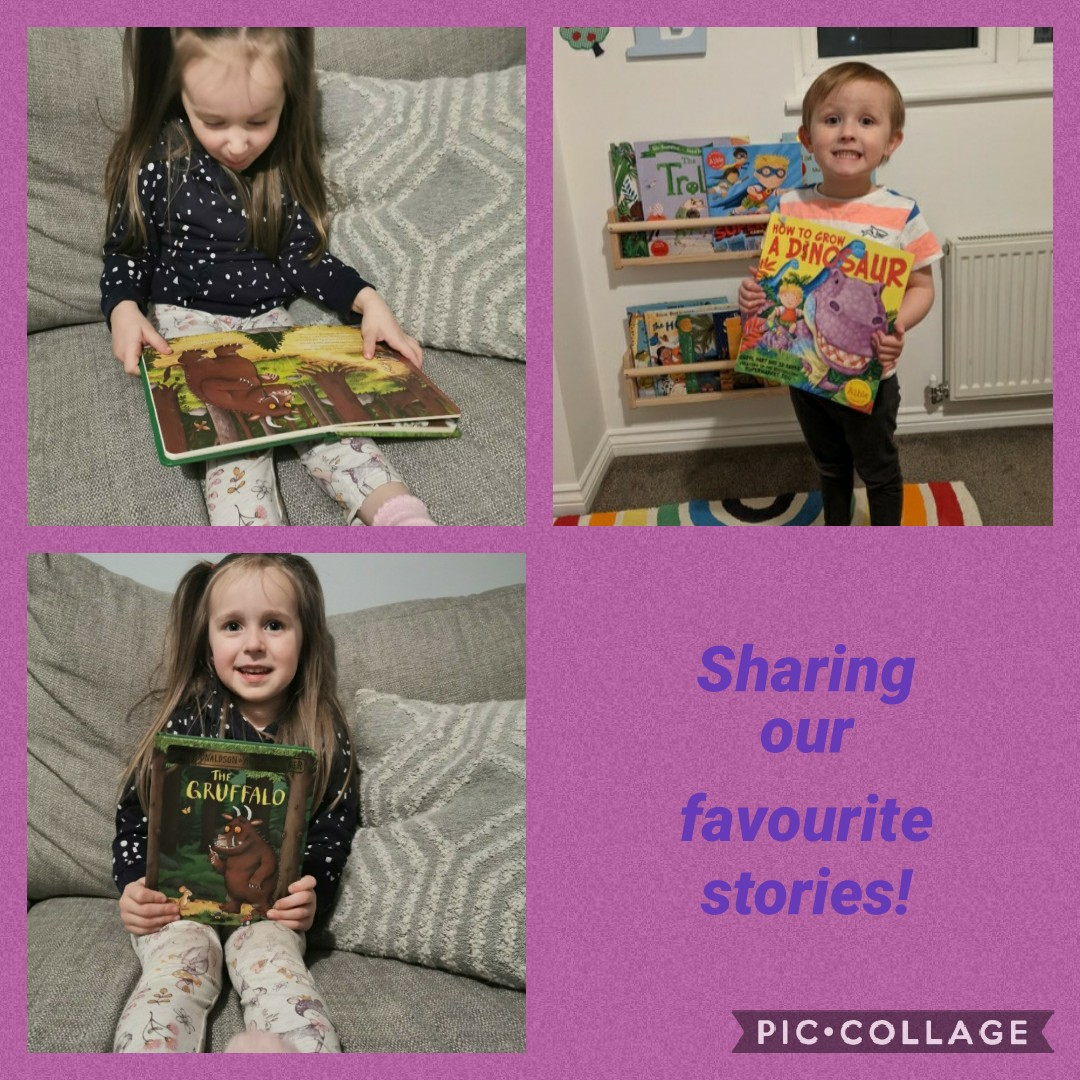 Remote Learning: the purple group have been enjoying sharing their favourite stories today during our literacy day. Learners enjoyed searching the house for their very favourite book before sharing these with us. #remotelearning #literacy