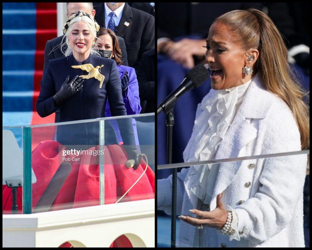 No sé qué clase de Medio Tiempo del #SuperBowl es el #Capitolio, pero en lo personal quiero agradecer a #LadyGaga y #JLo por haberme hecho menos aburrida la transmisión en vivo del #InaugurationDay   #InaugurationDay2021 #USA #InaugurationDay46 #JoeBiden #KamalaHarris