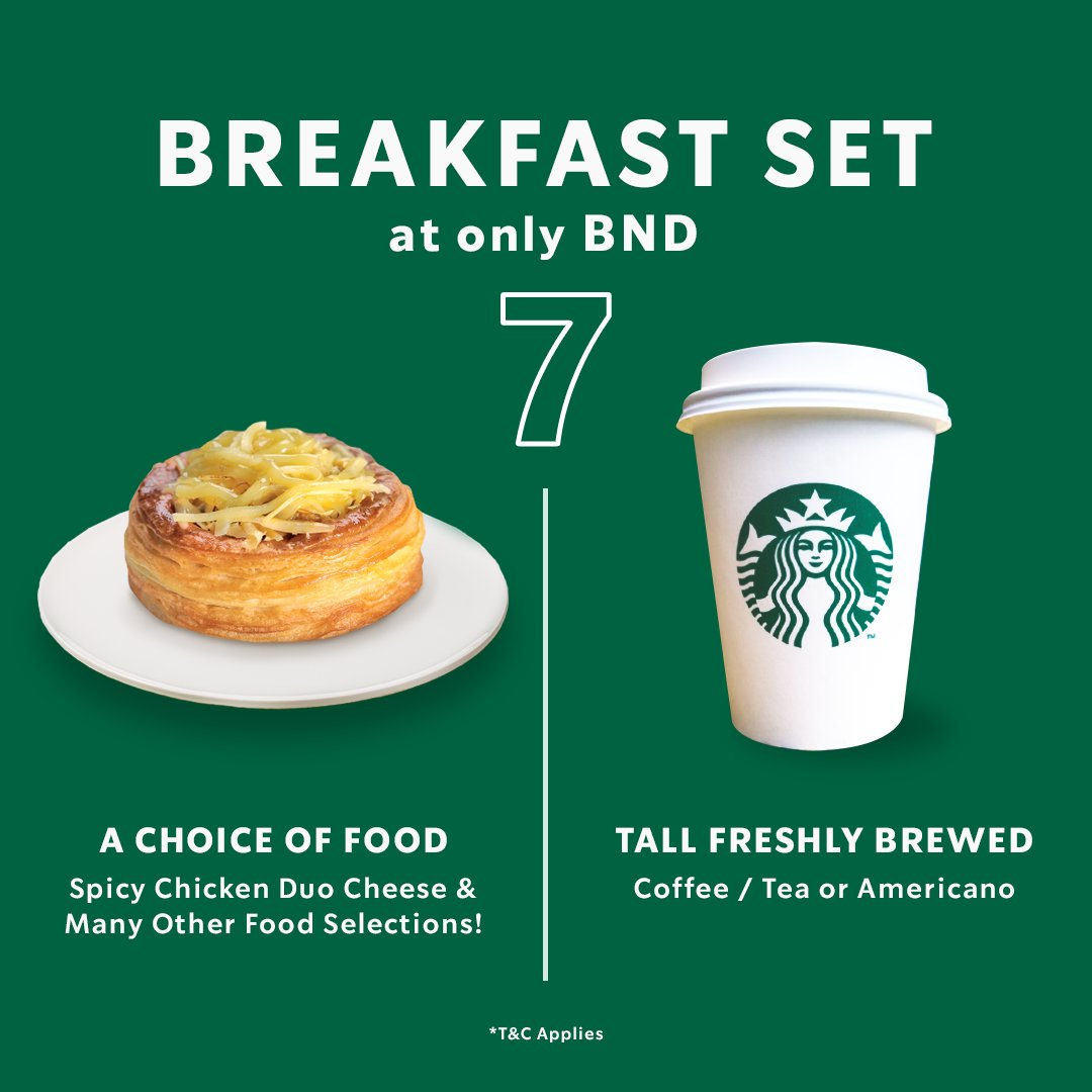 The Breakfast Set you need before the morning meeting. A choice of food and a Tall Freshly Brewed Coffee/Tea or Americano at BND7 to get you ready and focused!  *T&C Apply https://t.co/gVNgoHmZrT