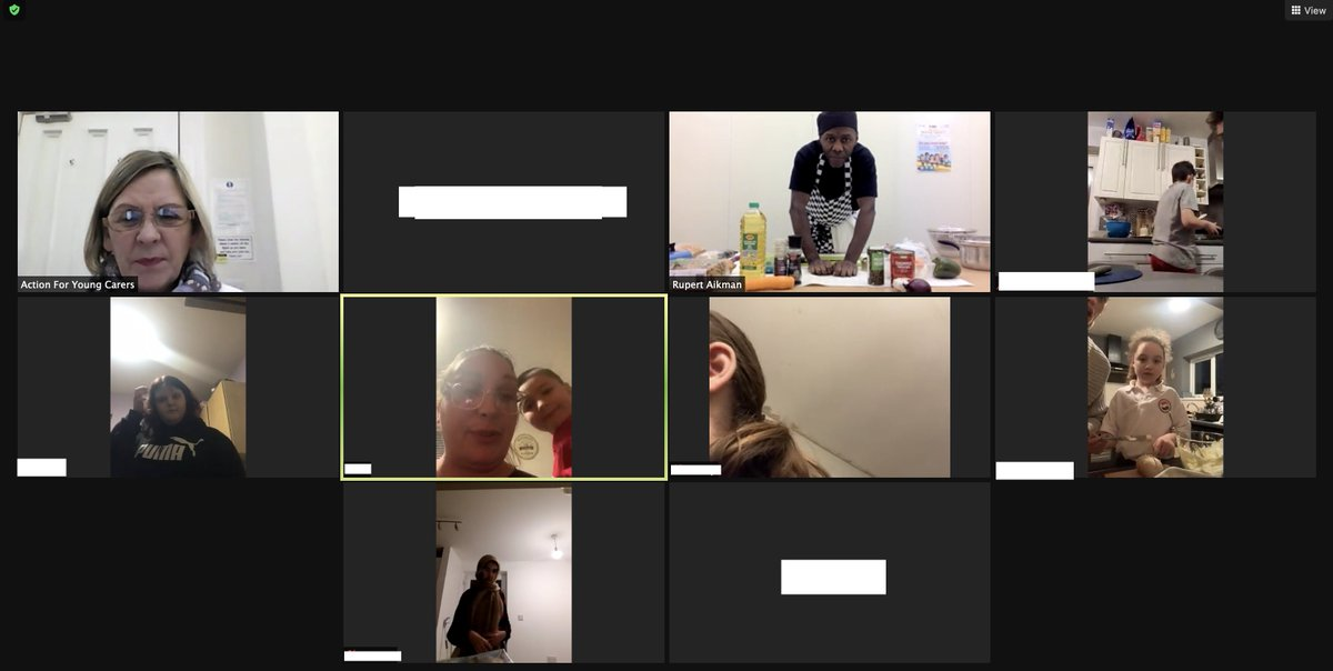 We had great fun tonight, with @HES_4All leading our second online cookery class for #youngcarers and their families. On the menu tonight was spaghetti bolognese and garlic bread. 😋👨🍳👩🍳🍝 #ENDCHILDFOODPOVERTY
