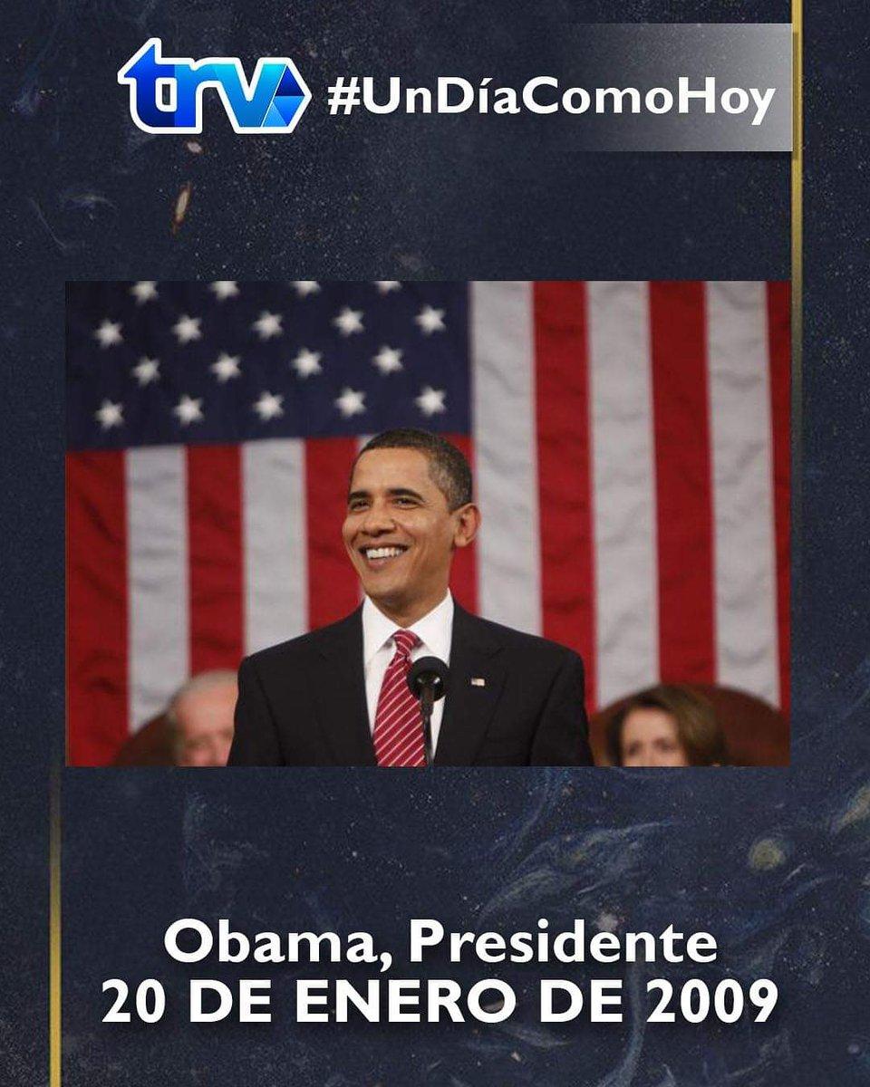 """Un día como hoy """"Obama, Presidente"""". #TRV #UnDiaComoHoy #Noticias Lee la nota aquí:"""