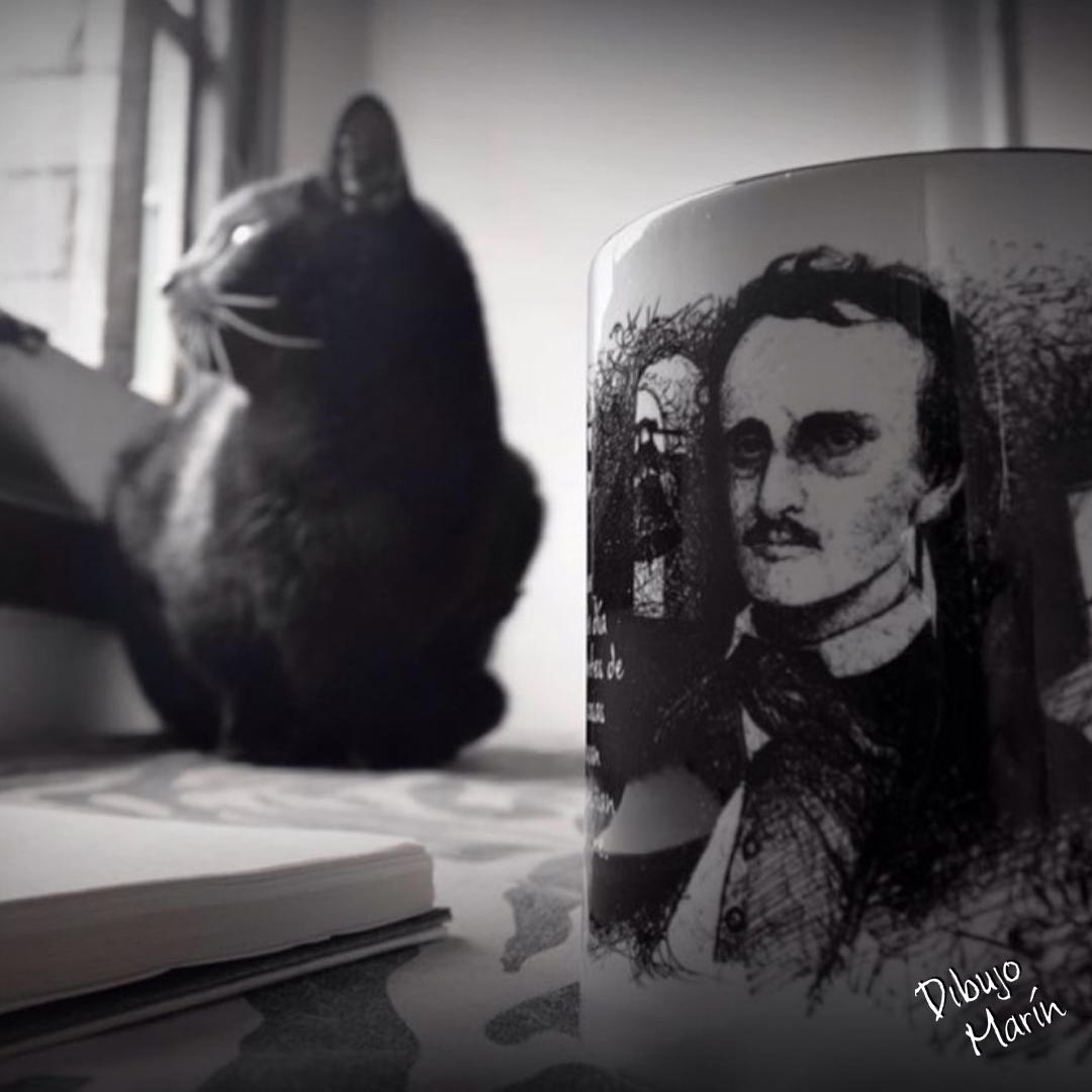 #undiacomohoy en 1807 nació Edgar Allan Poe, uno de los referentes de la Literatura de terror más importante de todos los tiempos, así mismo, considerado el padre el padre de los cuentos de terror y misterio.   Dibujo: Jonathan Cadavid Marín  #Efeméride  #Literatura #Dibujo