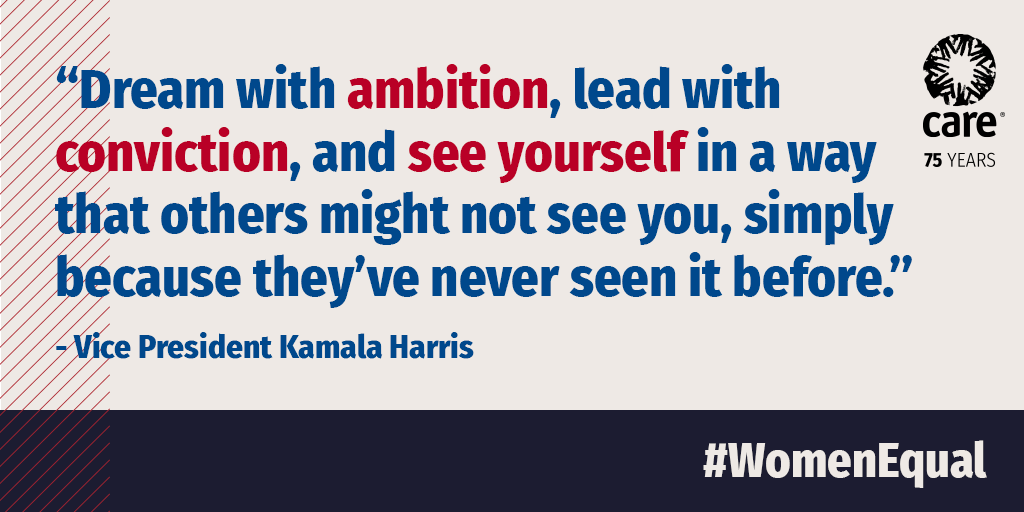Women leading in public and political decision-making leads to laws, policies, programs and more that account for women's experiences, needs and rights. Congratulations to U.S. first woman VP @KamalaHarris! #InaugurationDay #WomenEqual