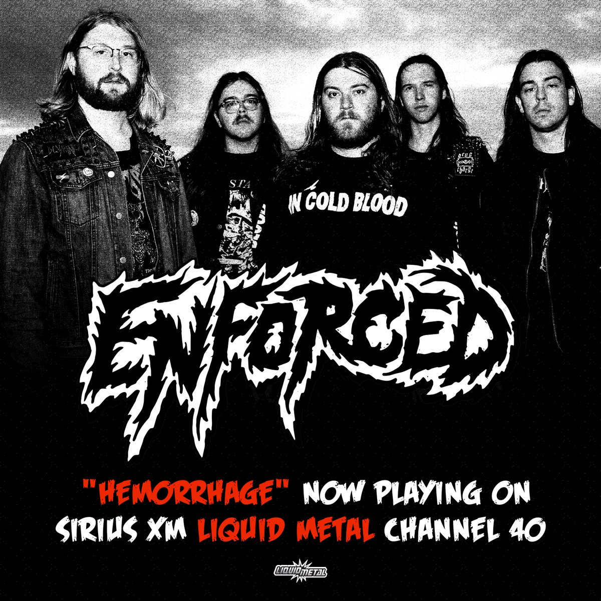 """.@EnforcedRVA """"Hemorrhage"""" is now playing on @SXMLiquidMetal 🤘  Thank you @josemangin for the support!"""