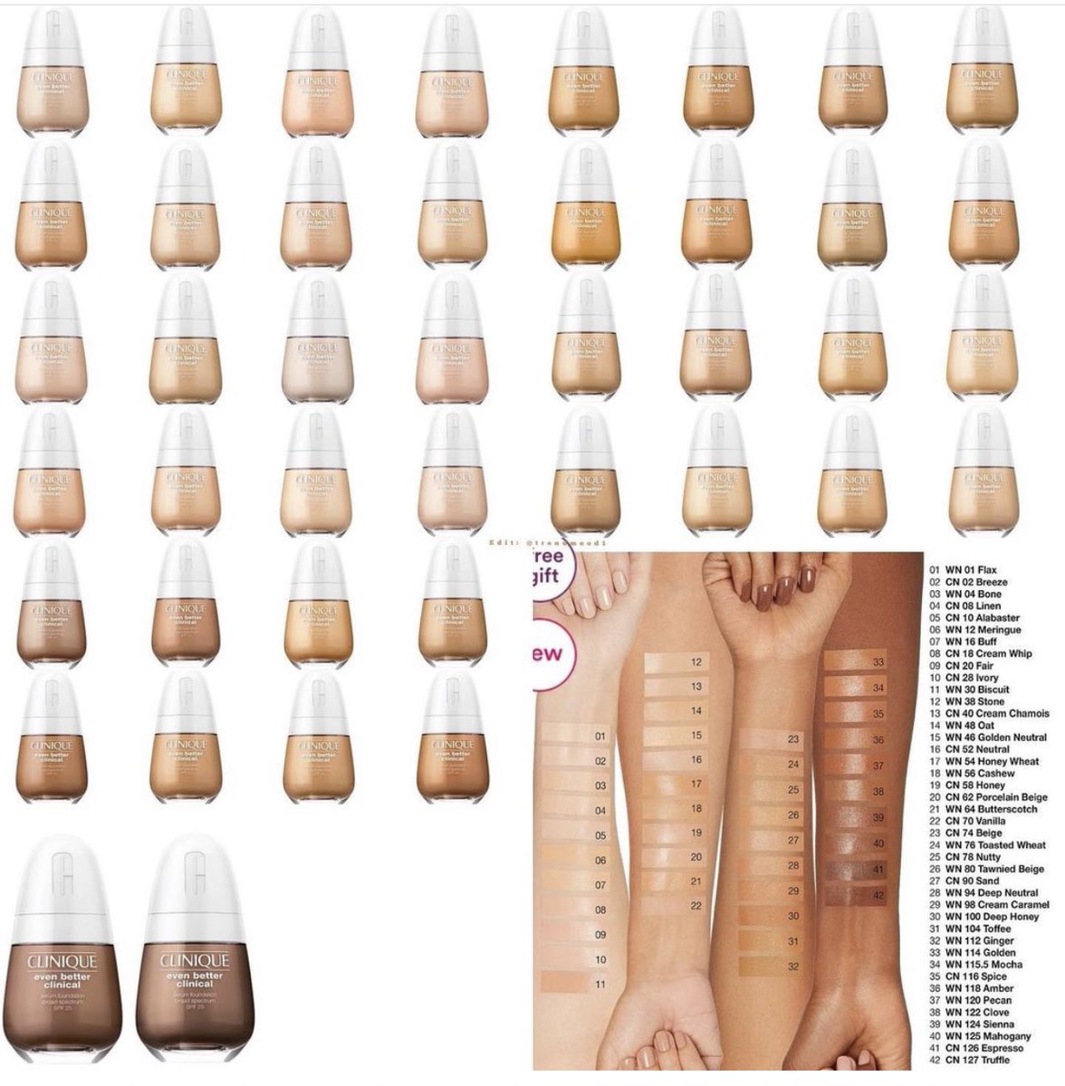 Trendmood On Twitter Available Now Link Https T Co Jvzbbvi6ls Online Ultabeauty New Even Better Clinical Serum Foundation Broad Spectrum Spf 25 By Clinique 42 In 42 Shades I Wish They Had More