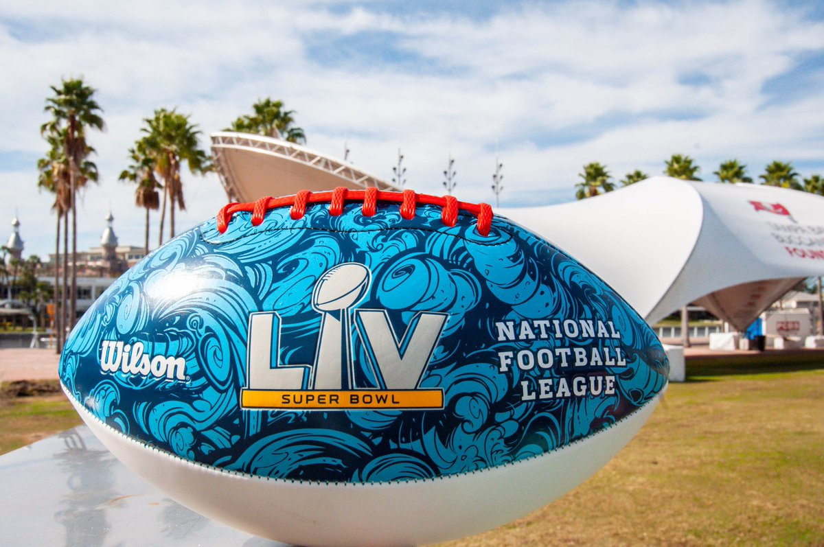 All-new Super Bowl drop, shining bright in the Florida ☀️. Hit the link below to grab yours today! #wilsonfootball #sblv  🏈✍️:
