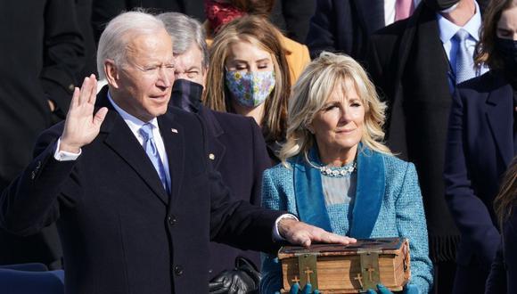 Jura Joe Biden como presidente de Estados Unidos  El demócrata Joe #Biden juró este miércoles como el presidente número 46 de Estados Unidos en una ceremonia en el #Capitolio, poniendo fin al mandato del republicano Donald #Trump.  #JuntoXNuestroEstado #Internacional