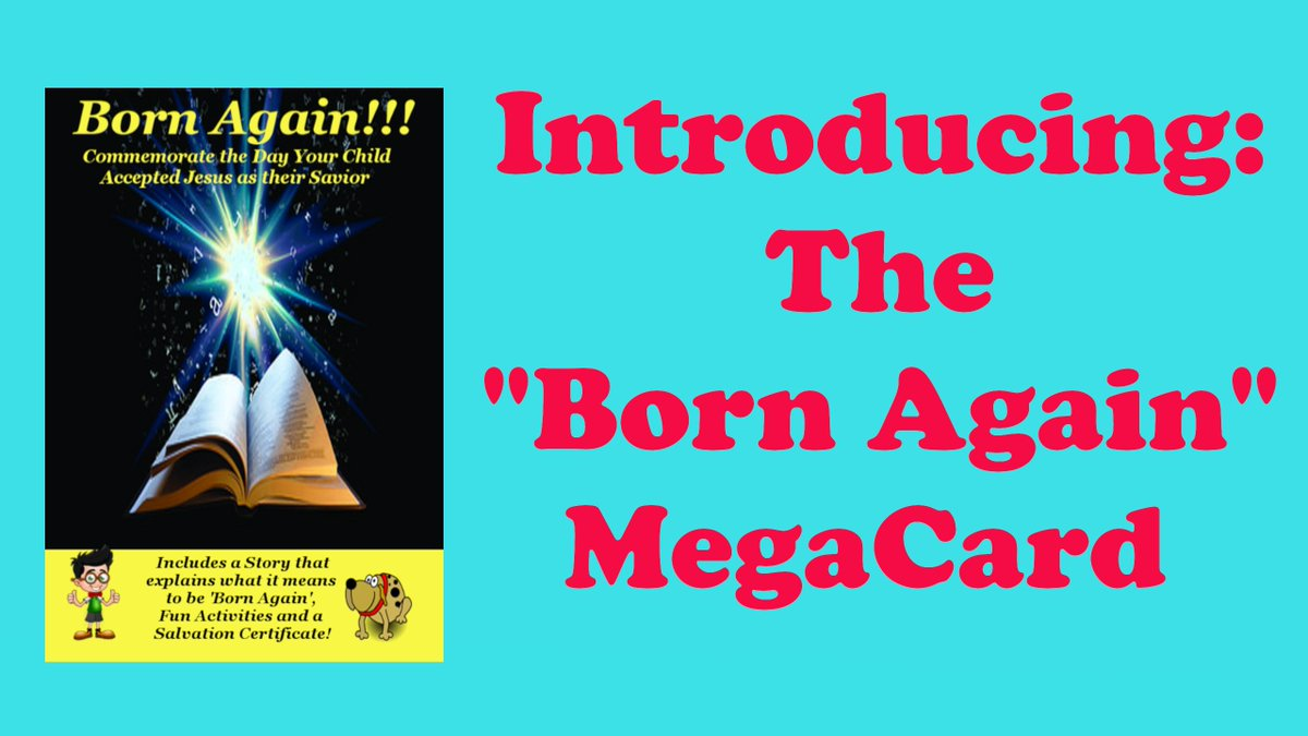 This 27-Page MegaCard is loaded with content and even includes a Salvation Certificate! #Parenting #Christian #Jesus #BornAgain #Saved #Salvation #Pastors #Kidmin #ChildrensMinistry #Homeschool #KidsMinistry #Church Here's where to see it for yourself: