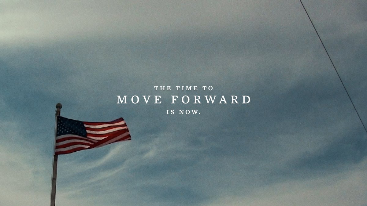 Replying to @POTUS: The time to move forward is now.