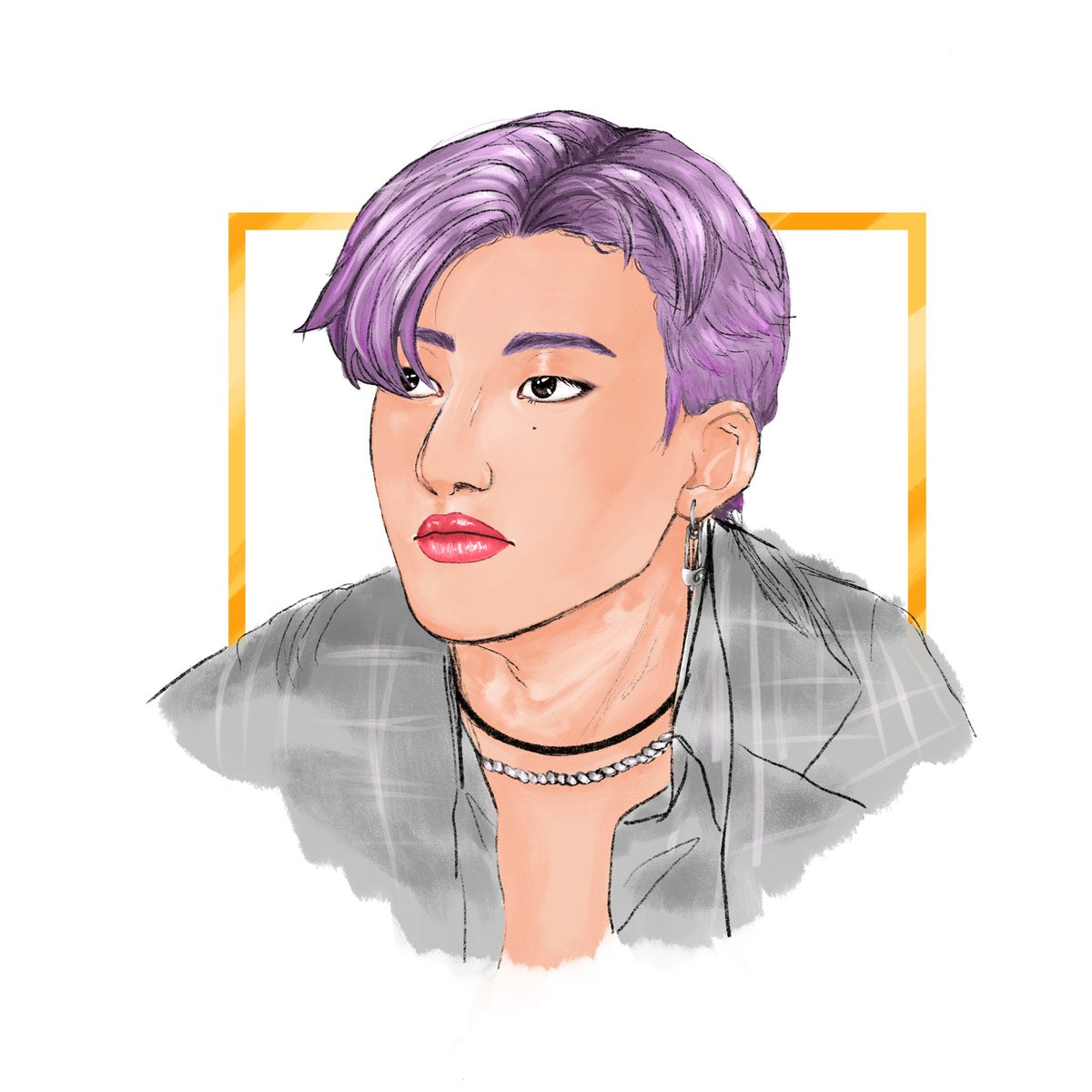 tried out a new brush not sure yet if I like it though 🤔🤔  #wooyoung #우영 #ATEEZ #에이티즈 #ATEEZfanart