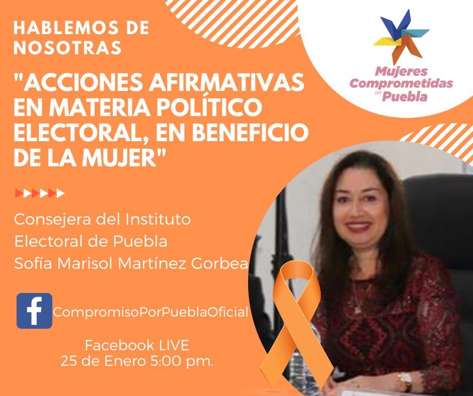 este 25 de enero únete a la transmisión, este #DíaNaranja platicaremos con la Consejera Sofía Marisol Martínez Gorbea, nos vemos a las 5:00 p.m. 👇🏽 #CompromisoContigo