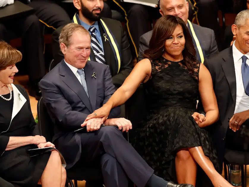 Replying to @Lucydoee: If he don't love me like Bush love Michelle, I don't want him