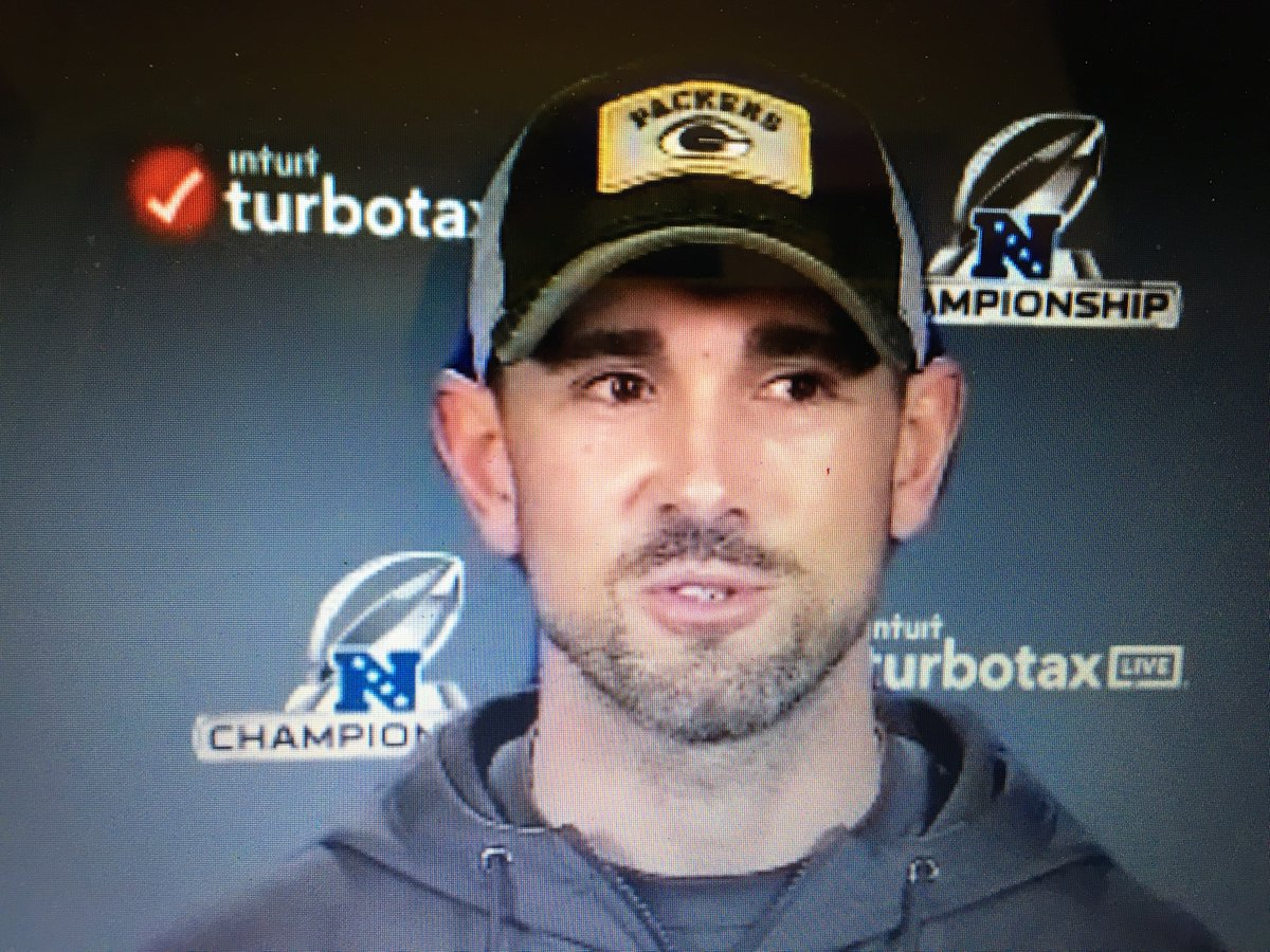 #Packers head coach Matt LaFluer holding a virtual NFC Championship press conference says RB AJ Dillon (quad) will be limited in practice today. Tyler Ervin not ready yet. OT Jared  Veldheer still COVID 19. Hear it @1250AMTheFan