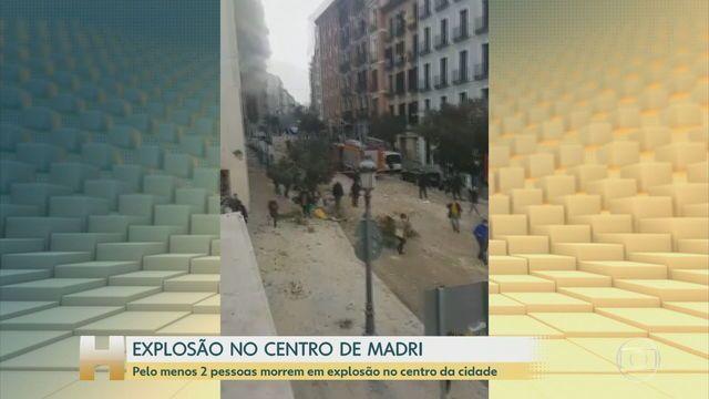 Pelo menos oito pessoas ficaram feridas após explosão que atingiu os quatro últimos andares de um prédio próximo a uma residência de idosos, que foi evacuada:  #JH