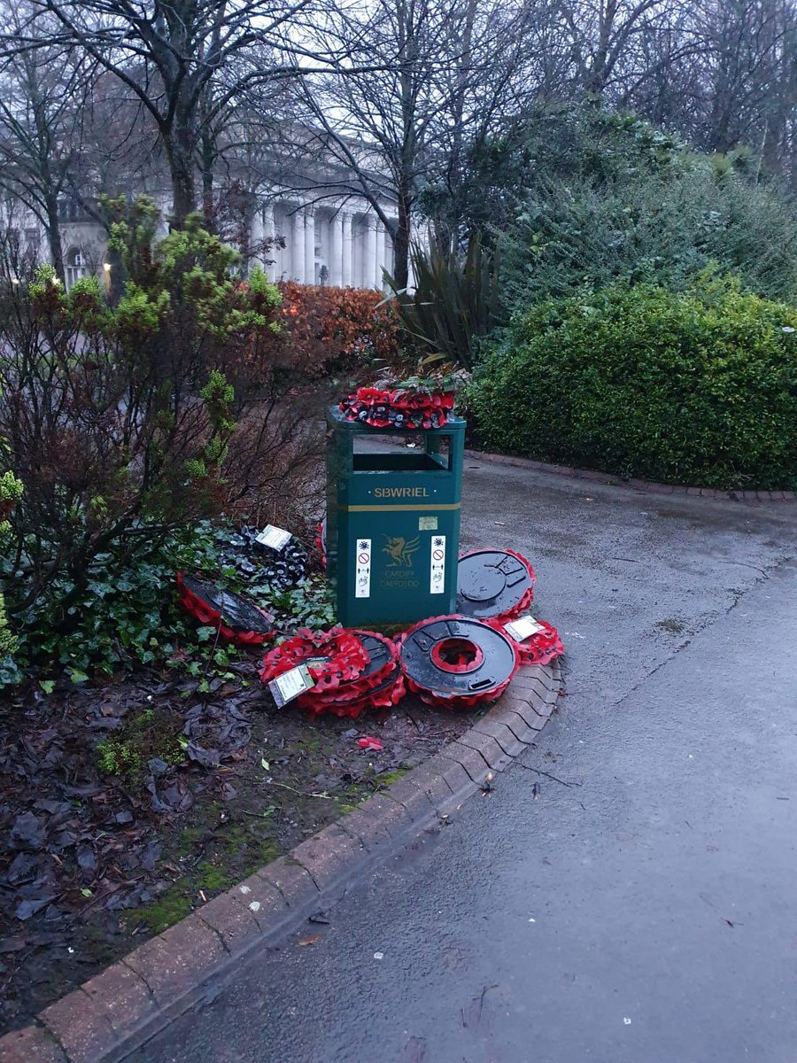 This is a terrible indictment! Respect for servicemen and women from the commonwealth is very important at this time when we are highlighting the poor behaviour towards Black people. Who did this? #BlackLivesMatter @BLM_RCT @BLMGwent @cardiffcouncil this deserves an investigation