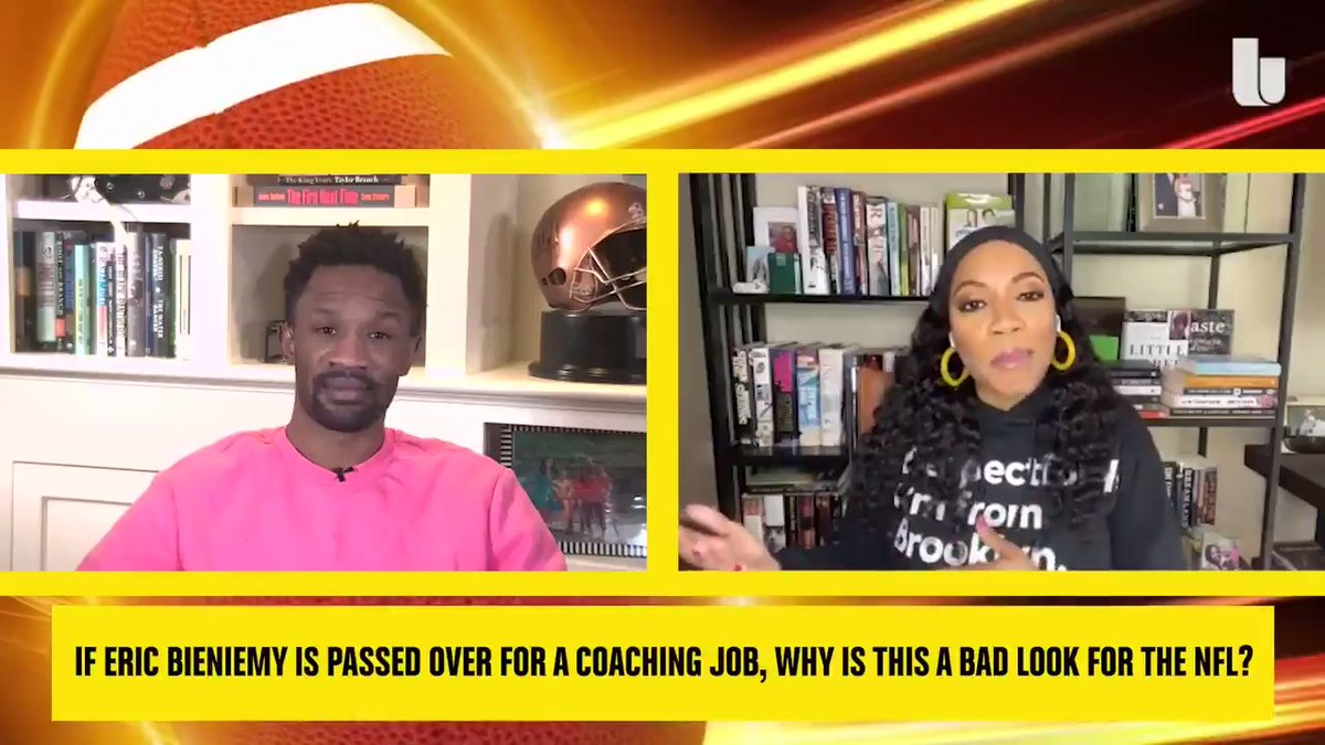 """Eric Bieniemy, who arguably has one of the best young quarterbacks in the NFL vouching for him. Andy Reid, one of the greatest coaches, vouched for him – and he still can't get work? That to me is problematic."" - @ByKimberleyA   via IDGAD with @Foxworth24"