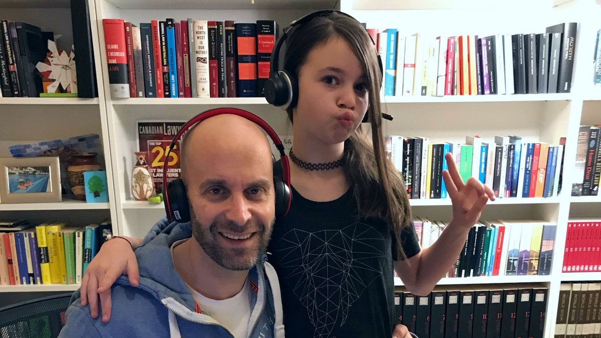 In their family-friendly podcast, law professor Peter Sankoff and his 11-year-old daughter Penny decode the basics of criminal law—and the finer points of tween culture: bit.ly/3a4yg7F #UAlberta #podcast @UAlbertaLaw @petersankoff @tclpodcast1