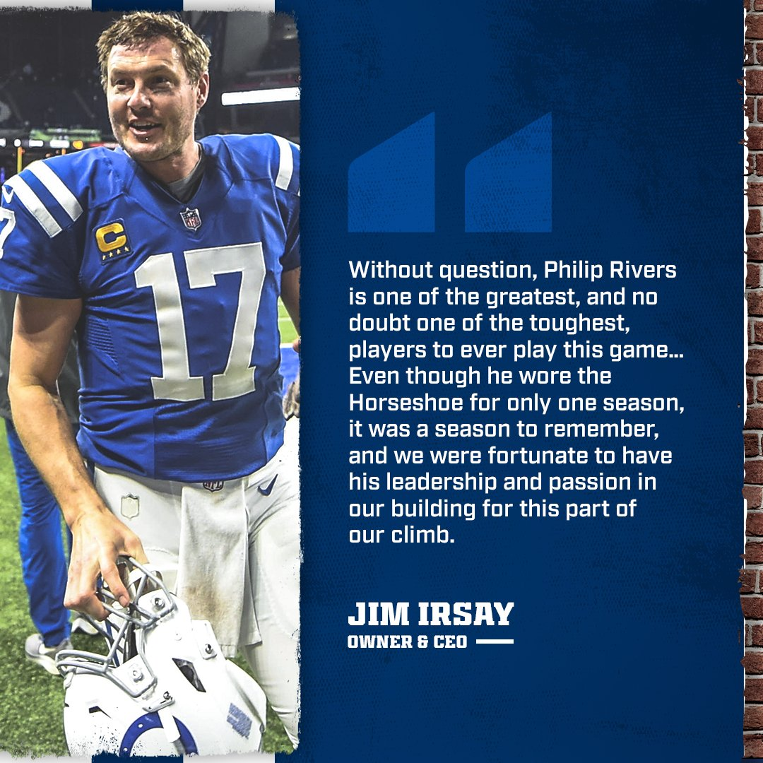 """Replying to @Colts: """"One of the fiercest competitors and most loyal teammates that our game has ever seen."""""""