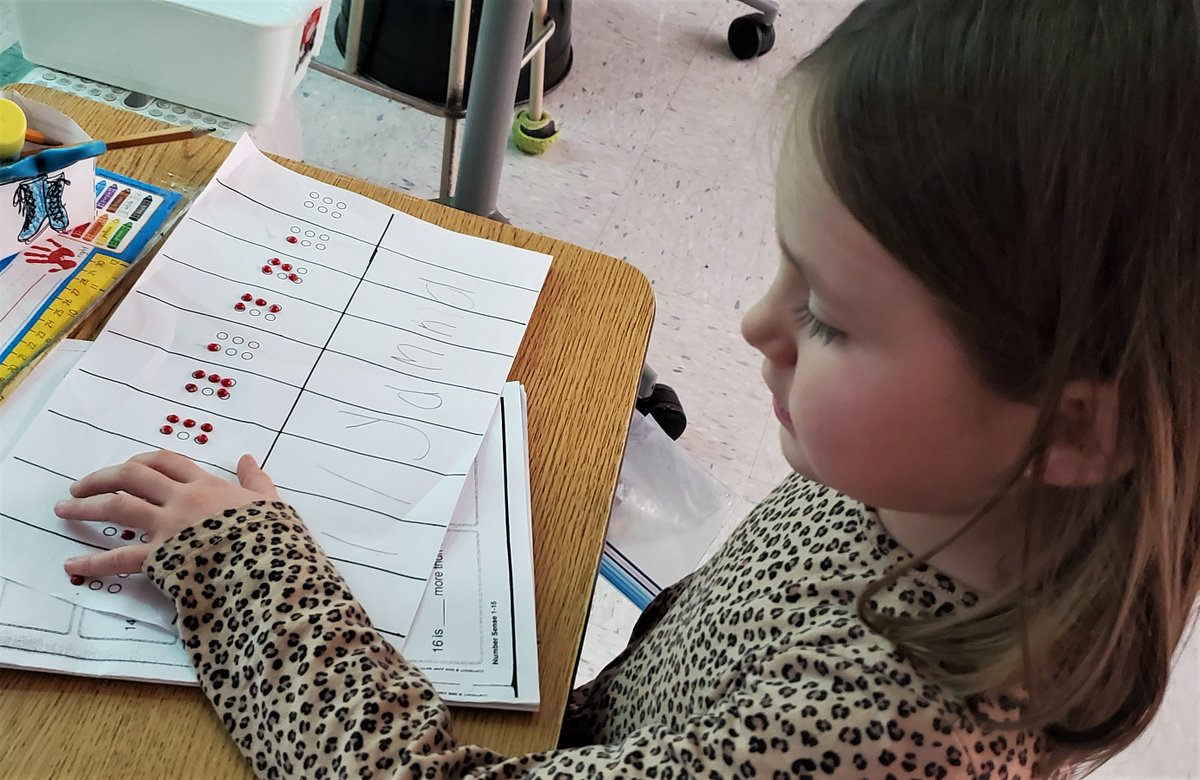Our grade ones are experts at writing their names, even in braille! #literacy #RDPSD