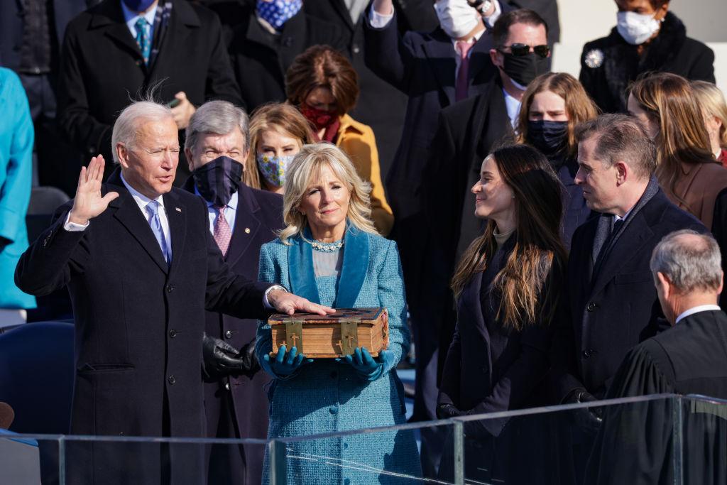 Biden was sworn in on the screenplay for The Irishman.