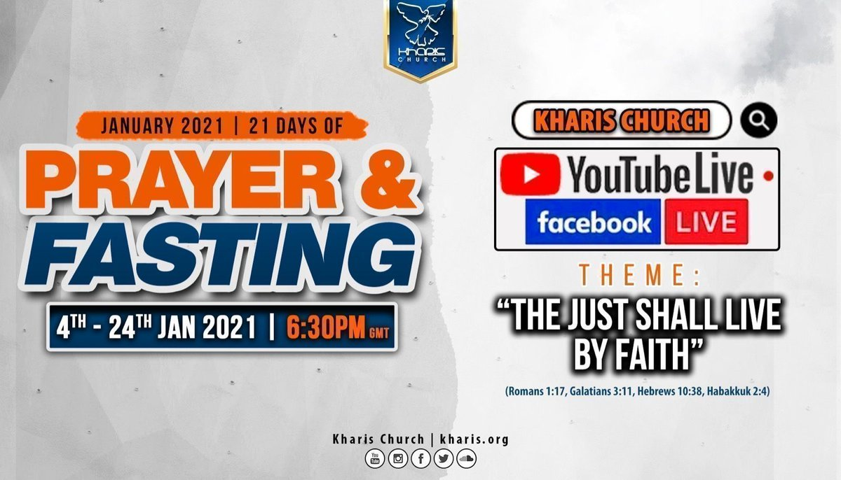 We are LIVE 🔥🙌🙏 Join us for Day 17 of 21 Days of Prayer and Fasting⬇️  👉YouTube:  👉Facebook:  #Faith #Victory