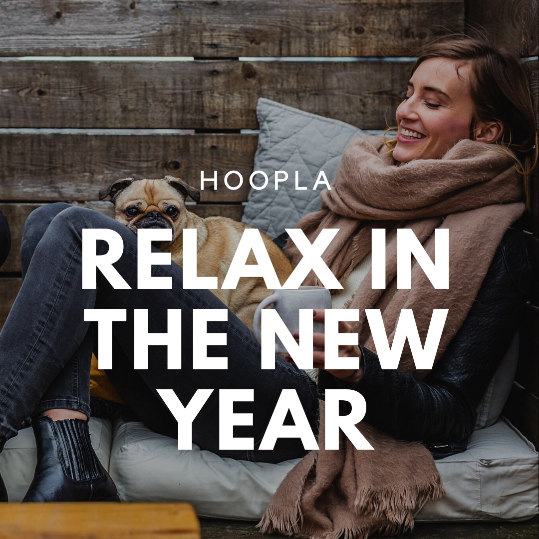 """Is relaxing one of your goals in the new year? Well the following list called """"Relax in the New Year"""" on Hoopla should help you achieve your goal at the following link:   #hoopladigital #hoopla #relaxation #relax #newyear #newyearnewyou #films #movies"""