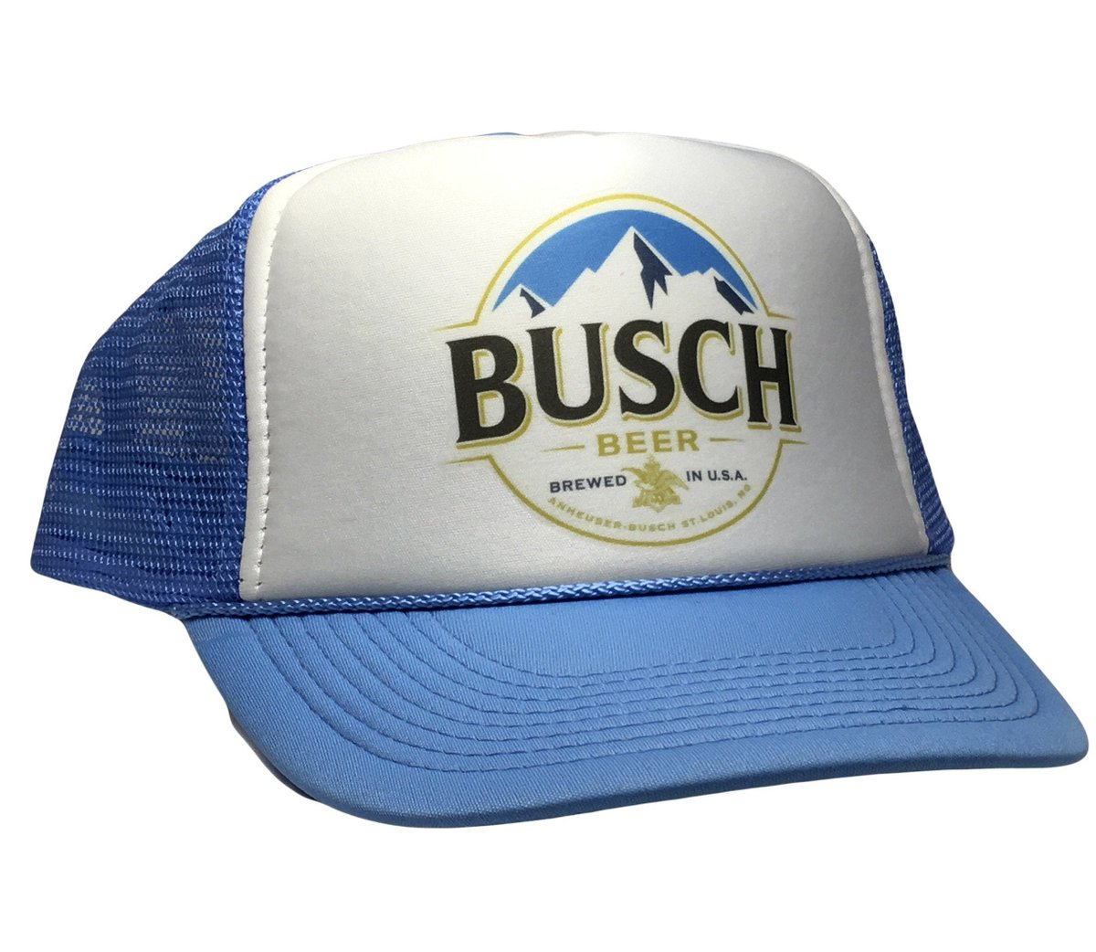 Excited to share the latest addition to my #etsy shop: Vintage Busch Beer Hat NASCAR Trucker 80s Mesh Cap Snap Back adjustable light blue New  #blue #birthday #christmas #white #preppy #truckerhat #snapbackhat #vintagehat #funnyhat