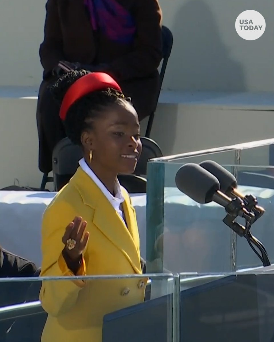 Poet Amanda Gorman delivered an inspirational message during Inauguration Day.