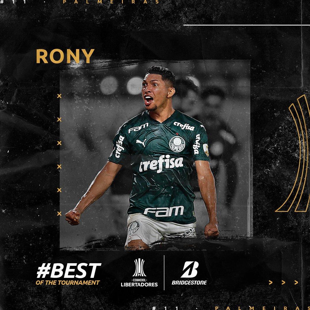 👏👏 ¡Hora de elegir a la figura de la CONMEBOL #Libertadores 2020, al @BridgestoneLA #BOTT! ⠀ #VotaBestOfTheTournament ⠀ 1⃣ Rony (@Palmeiras) 2⃣ Marinho (@SantosFC) 3⃣ Weverton (@Palmeiras) 4⃣ Yeferson Soteldo (@SantosFC) ⠀ 📌 Para votar 👉
