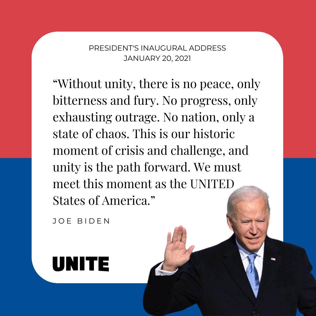 Unity is the path forward. @JoeBiden @POTUS #InaugurationDay #president #joebiden #answeringthecall