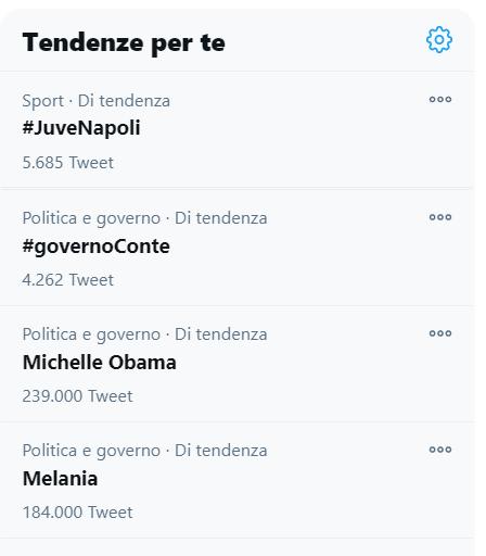 I #TT di #Twitter mi rassicurano e mi tranquillizzano . In Italia tutte le rivoluzioni devono finire prima che inizi la partita. #JuveNapoli #Inauguration2021