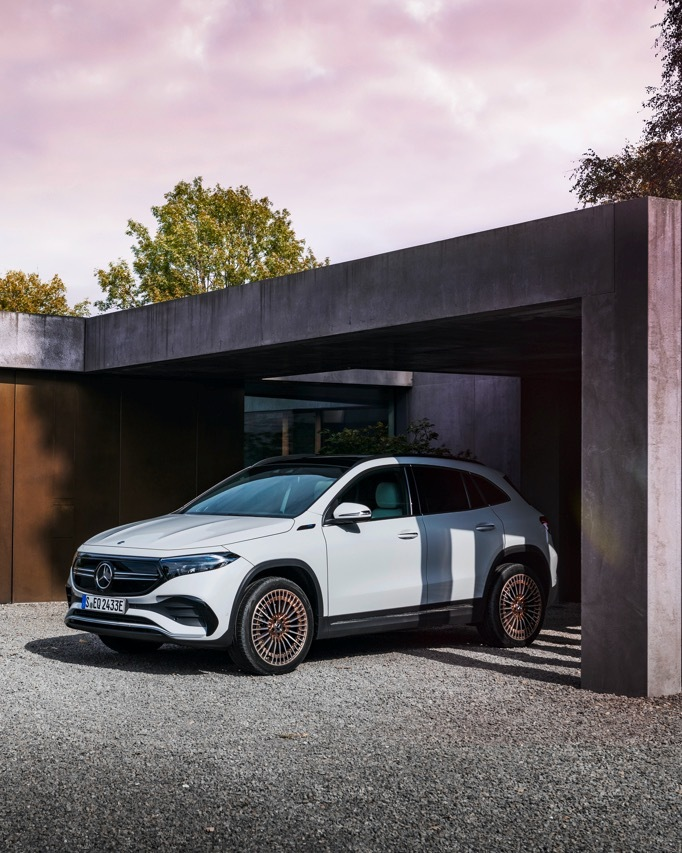 [Stromverbrauch kombiniert: 15,7 kWh/100 km   CO₂-Emissionen kombiniert: 0 g/km      EQA 250]  Enjoy the exterior highlights of the all-new EQA. Take a closer look now and learn more here:   #MercedesEQ #MercedesBenz #EQA