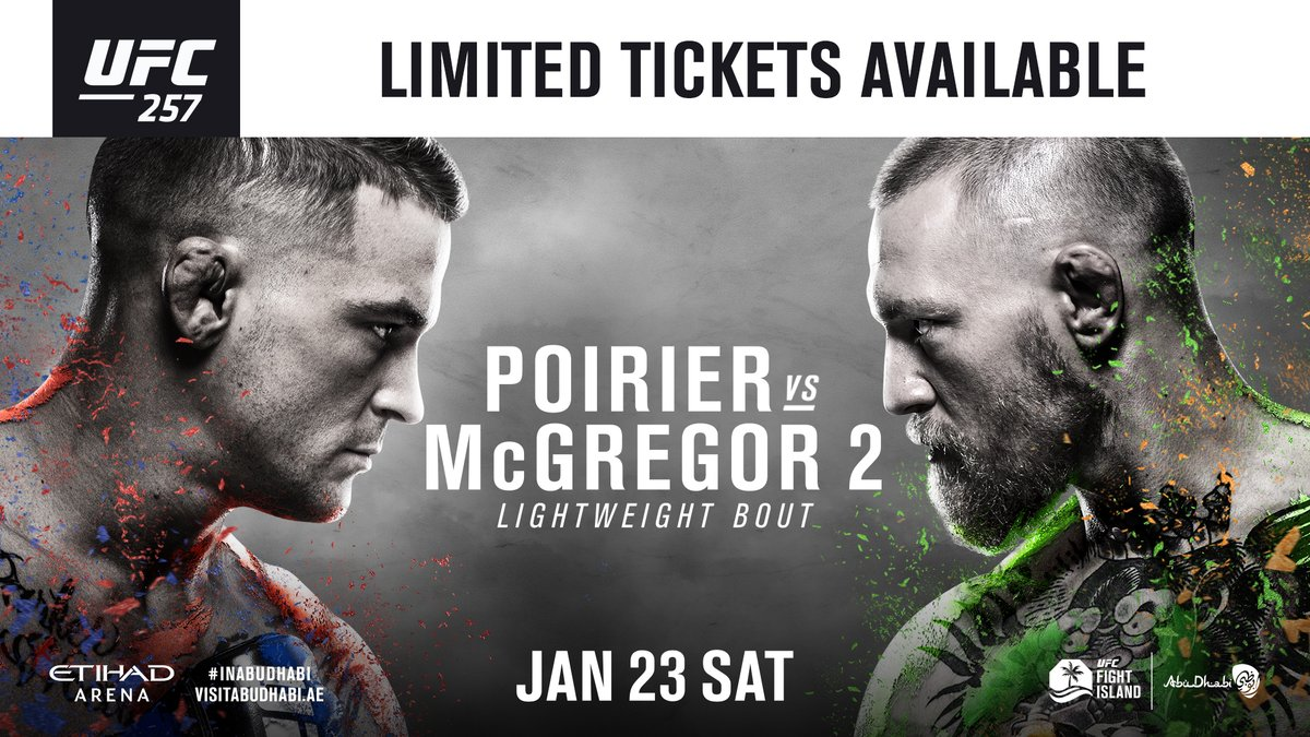 Due to HUGE demand, extra tickets are now available for #UFC257 but be quick!!  🎟️ https://t.co/KSc9jlZx0R 🎟️ https://t.co/mMmGv8MrRC https://t.co/BcM8x8FXKZ