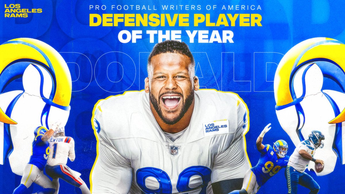 No one better.   Congratulations @AaronDonald97 for being named Defensive Player of the Year by @PFWAwriters! 🙌