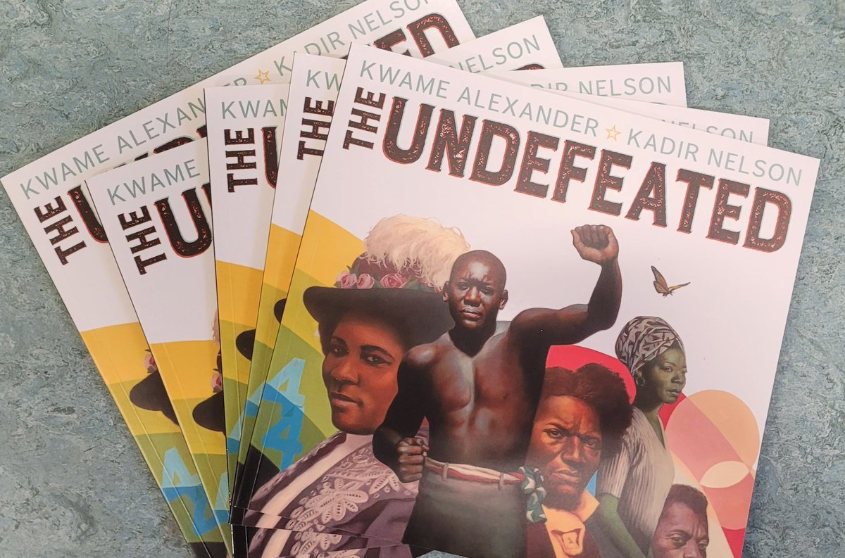 On #InaugurationDay, huge thanks to @ChildrensBkShow for copies of The Undefeated by @kwamealexander and @KadirNelson. They've made it possible for our Yr5s to be able to work on this fabulousbook and have a copy each to keep. Really looking forward to the results. @AndersenPress