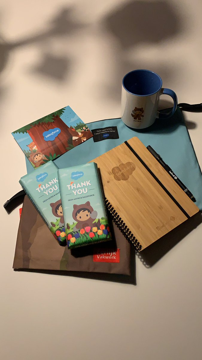 Postponed swag from @Dreamforce delivered some time ago at the office. Thanks @salesforce ! #dreamforce   #swag #awesomeadmins #trailblazer