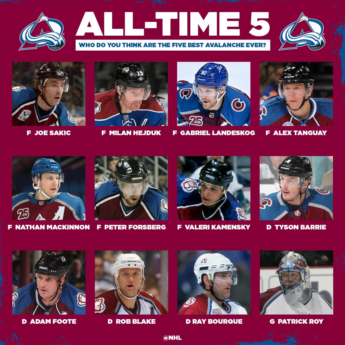We'll help you out with the first pick: Joe Sakic  Who's making the rest of the @Avalanche roster?