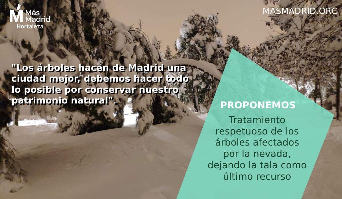 Aprobada por unanimidad nuestra propuesta en #PlenoHortaleza de que se lleve a cabo un tratamiento respetuoso para recuperar el arbolado dañado por la tormenta #Filomena