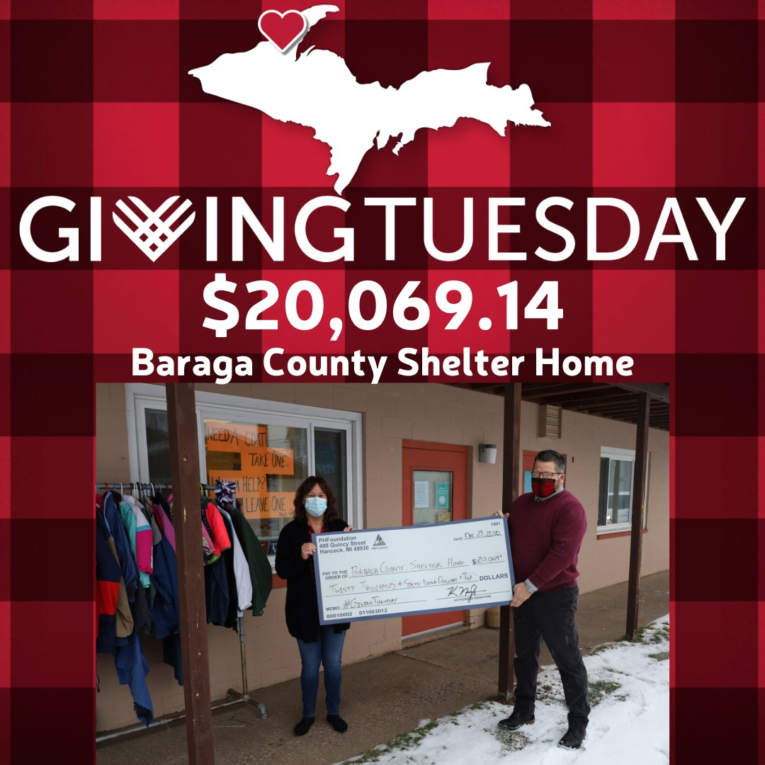 Another impressive year for the Baraga County Shelter Home as they raised more than $20,000 during #GivingTuesday. Thanks to all of the donors who showed support to this wonderful group of people. Learn more about them at . #Give906 #BaragaCounty