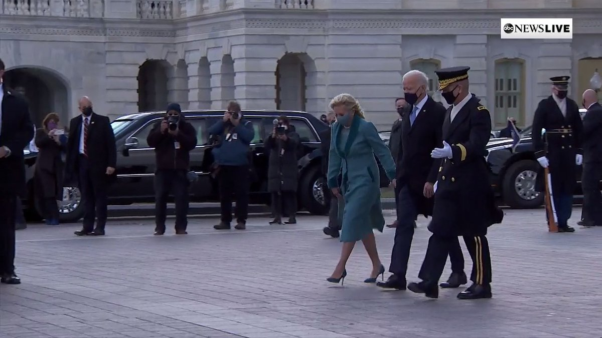 BREAKING: Pres. Biden and first lady Jill Biden leave the Capitol following this morning's inauguration ceremony.  #InaugurationDay