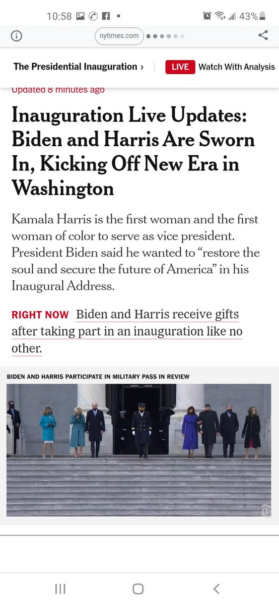 Yeeeeeees! 🎉🇺🇲🎊🌎🎉🍾🎊🥂🎉  New year, New (true) #leadership.😍  We survived...and now it's time to #thrive.   Here's to safety & security of #PresidentJoeBiden & #VicePresidentKamalaHarris, their families, staff and ALL of US.  Together,  we CAN rebuild. #DismantleTheSystem