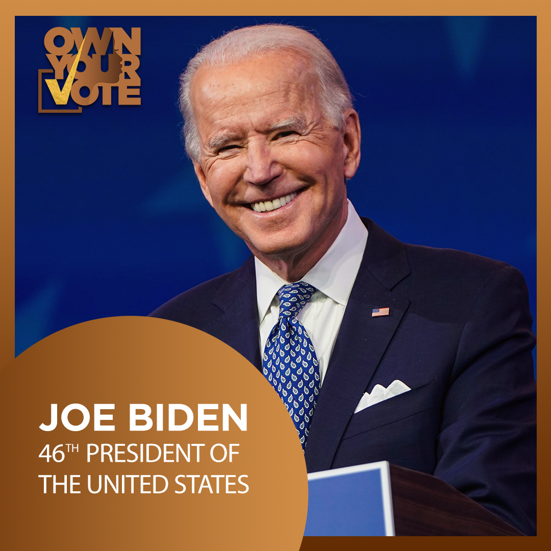 You all went out to #OWNYourVote and because of that, today we welcome in our 46th @POTUS and our very first Madam @VP! #InaugurationDay