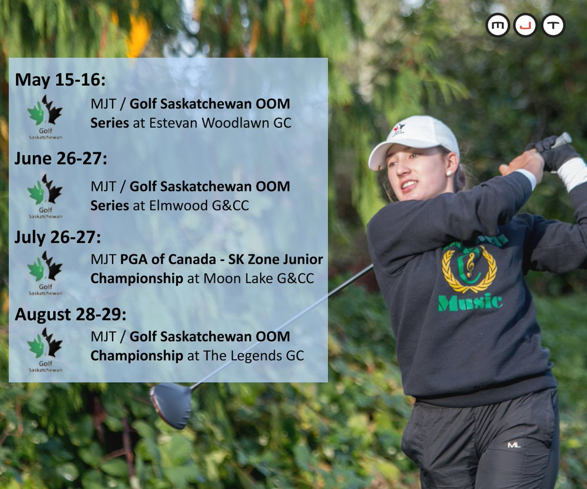 The 2021 MJT Saskatchewan Schedule is open for sign-up! Register now to secure your spots in some great junior tour events! Mini Tour to come soon!   #wednesdaythought #WeDoMoreWednesdays #Golf #tournament #reptheleaf #schedule