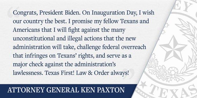 Texas Attorney General Vows To Fight Biden's Imminent 'Illegal & Unconstitutional' Actions EsMrqmtXMAAEKKA?format=jpg&name=small