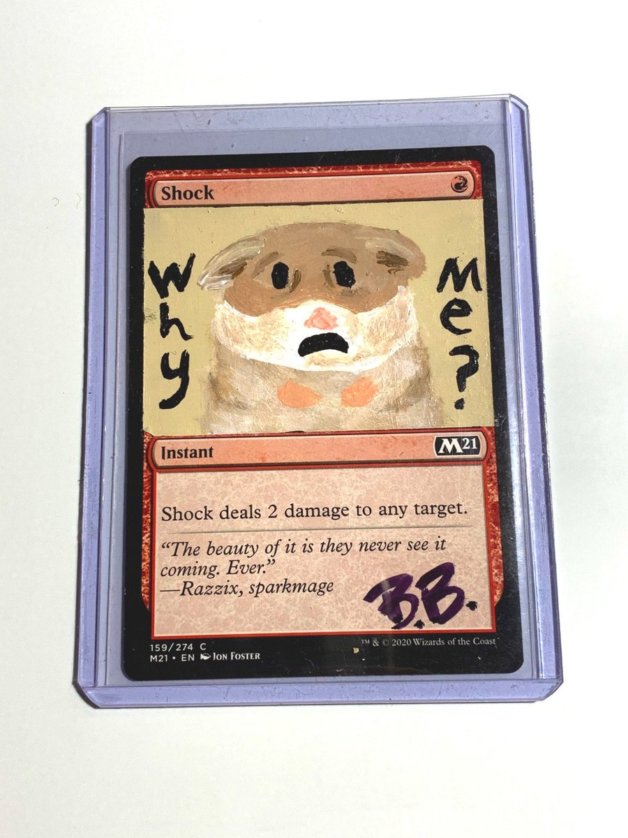 Excited to share this item from my #etsy shop: MTG Altered Card- Shock #mtg #meme #funny #shock