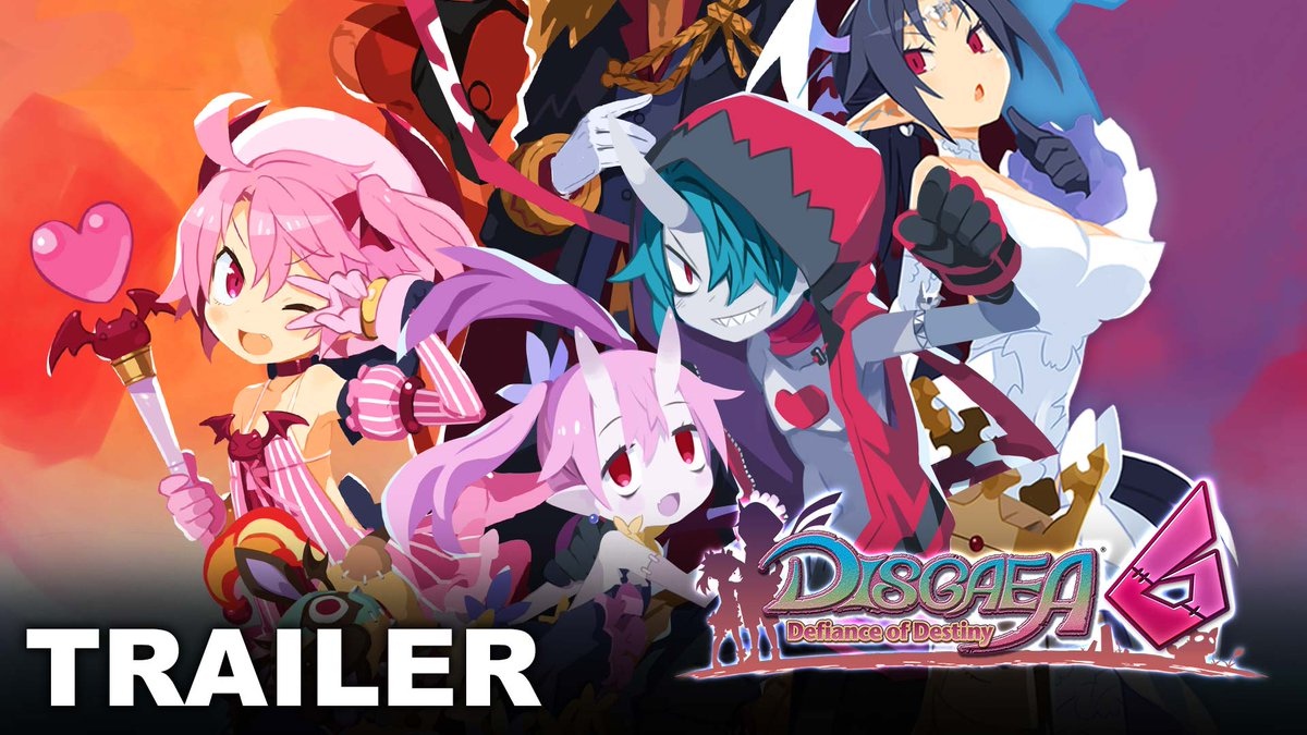 Zombies and kings and magical girls, oh my! A crazy adventure requires a crazy cast, and they don't get any crazier than in Disgaea 6: Defiance of Destiny, dood! Watch our new trailer to see these Netherworldly denizens in action: () #Disgaea6